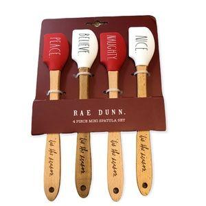 🆕 Rae Dunn Naughty Nice 4 Piece Mini Spatula Set